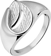 The Jewelry Collection Ring Gescratcht - Zilver Gerhodineerd