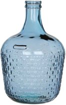 Mica Decorations diego weave fles glas blauw maat in cm: 42 x 27