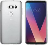 Colorfone PREMIUM CoolSkin3T Siliconen / Gel / TPU / Softcase / Hoesje / Cover / Case voor de LG V30 Transparant Wit