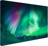 Noorderlicht in Alaska Canvas 120x80 cm - Foto print op Canvas schilderij (Wanddecoratie)