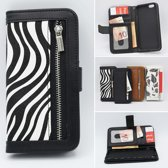 Bookcase APPLE IPHONE XR met Zebra Print+Portemonnee
