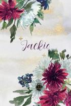 Jackie: Personalized Journal Gift Idea for Women (Burgundy and White Mums)