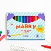 Marky markers. Viltstiften met ergonomische grip, Voor het goede doel. Een cadeau met een mooi verhaal.