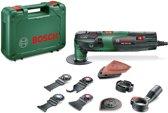 Bosch PMF 250 CES Multitool set Oscillerend 250 Watt Inclusief 10 accessoires en kunststof koffer