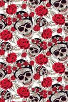 Sugar Skulls and Roses: Graph Paper Notebook, 6x9 Inch, 120 pages