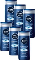 NIVEA MEN Cool Kick Douchegel - 6 x 250 ml - Voordeelverpakking