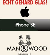 Man & Wood Screenprotector / Schermbescherming ECHT GEHARD GLAS (Tempered Glass) - iPhone SE