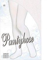 Witte panty voor kinderen 11-14 jaar