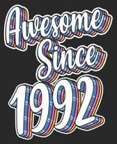 Awesome Since 1992: 27th Birthday Retro Born In Composition Notebook 100 Wide Ruled Pages Journal Diary