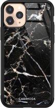 iPhone 11 Pro glazen hardcase - Marmer zwart