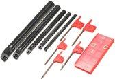 5pcs SCLCR 8/10 / 12/16 / 20mm draaibank kotterbaar Tunring Tool houder met 5 stuks invoegens