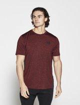 Fitness Shirt Heren Rood Athleisure - Pursue Fitness
