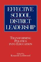 Effective School District Leadership
