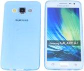 Samsung Galaxy A3, 0.35mm Ultra Thin Matte Soft Back Skin case Transparant Blauw Blue