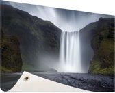 Waterval Tuinposter 200x100 cm - Tuindoek / Buitencanvas / Schilderijen voor buiten (tuin decoratie) XXL / Groot formaat!