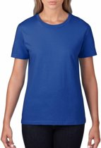 Basic ronde hals t-shirt blauw voor dames - Casual shirts - Dameskleding t-shirt blauw XL (42/54)