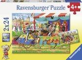 Ravensburger Bij de ridders Twee puzzels van 24 stukjes