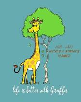 Life Is Better With Giraffes - 2019- 2020 Weekly & Monthly Planner: Weekly Planner(From November 2019 Through December 2020)-Planner Schedule Monthly