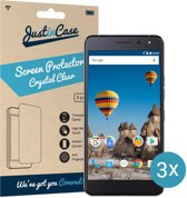 Just in Case Screen Protector General Mobile GM5 Plus - Crystal Clear - 3 stuks