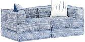 vidaXL Slaapbank tweezits modulair stof patchwork indigo