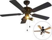 QAZQA Mistral 42 - Plafond ventilator met lamp - 3 lichts