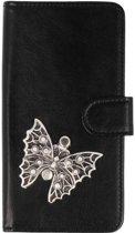 Sony Xperia XA1 Plus hoesje vlinder zilver