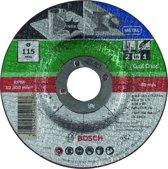Bosch 3 in 1 slijpschijf - Voor Metaal + inox - 115 x 2,5 mm - gebogen