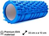 Foam Roller Blauw - 33 cm - Triggerpoint massage - Grid Roller - Massage roller