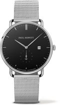 Paul Hewitt Grand Atlantic Line PH-TGA-S-B-4M - Horloge - Staal - Zilverkleurig - Ø42mm