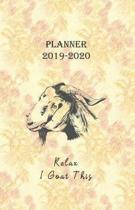 Planner 2019 - 2020 Relax I Goat This
