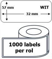 25x Dymo 11354 compatible 1000 labels  / 57 mm x 32 mm / wit / papier