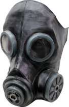 """Zwarte gasmasker - Verkleedmasker - One size"""