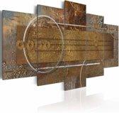 Schilderij - Gouden diepte, 5luik