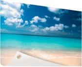 Tropische zee en strand Tuinposter 200x100 cm - Tuindoek / Buitencanvas / Schilderijen voor buiten (tuin decoratie) XXL / Groot formaat! / Zee en Strand