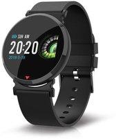 Parya Smart Watch PP69 - Zwart - stappenteller - hartslag meter