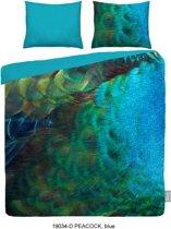 iSeng Peacock - Dekbedovertrek - Tweepersoons - 200x200/220 cm + 2 kussenslopen 60x70 cm - Blue