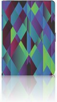 Apple iPad 9.7 (2018) Tablethoesje Design Abstract Green Blue