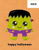 Happy Halloween: 100 Medium Puzzles In Large Print Halloween Themed