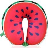 TravelMore Comfortabel Reiskussen – Vliegtuig Kussen - Neksteun Voor in het Vliegtuig, Auto of Travel - U-Vorm Watermeloen Design