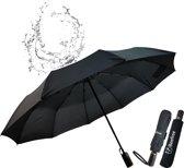 Beefree Automatische Stormparaplu - Paraplu – Automatisch, opvouwbaar & Windproof tot 100km p/u - Ø 107 cm - 10 panelen - Zwart