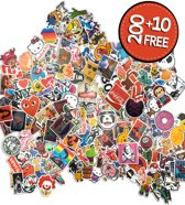 Premium Sticker Vinyl Pack [210 Stickers], Vinyl Graffiti Stickers voor laptop, auto, motorfiets, fiets, PS4, kinderen, boeken, skateboard, bagage, snowboard, iPhone, MacBook, Nintendo enz - waterdicht en zonnebescherming - Superiox