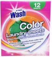 At Home Wash - Kleurdoekjes - Gekleurde Was - 12 Wasbeurten