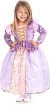 Rapunzel jurk - maat (L) 116/128 - 5/7 jaar