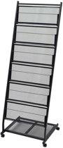 vidaXL Tijdschriftenrek zwart 47.5x43x133 cm A4