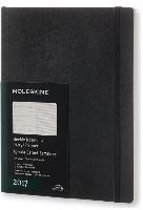 Moleskine Agenda 2017 12 Months Planner Weekly Notebook Extra Large Black Soft Cover