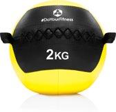 #DoYourFitness® - Wall-ball / gewicht bal »Adria« van 2kg tot 10kg - medicijnbal met een ant-slip oppervlak, ideaal voor duurtraining, Crossfit, core-workout - 2kg