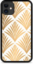 iPhone 11 Hardcase hoesje Art Deco Gold