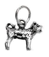 Zilveren Bulldog kettinghanger