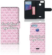 Xiaomi Redmi 6 Portemonnee hoesje Flowers Pink DTMP