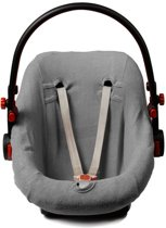 Briljant Baby - Autostoelhoes badstof - maat 0+  grijs